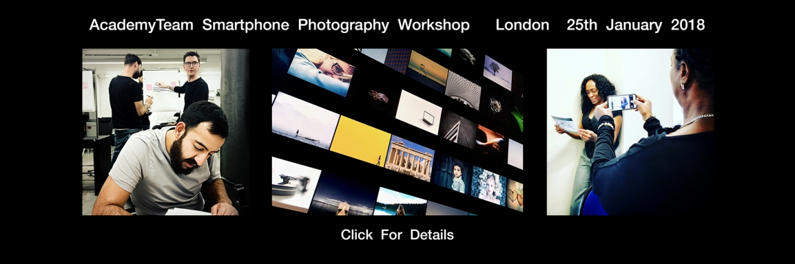 mobile photography course workshop academyteam.co.uk london smartphone